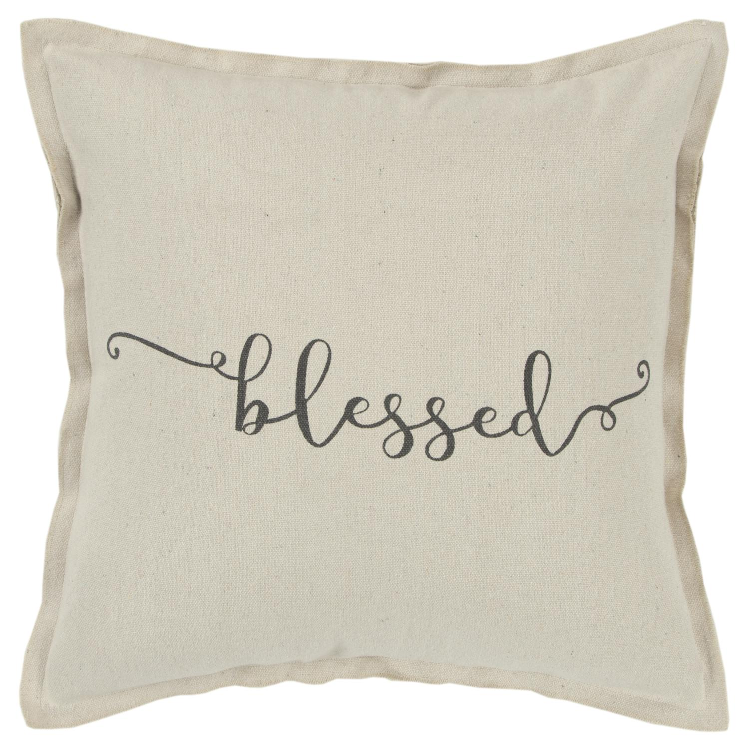 rizzy home holiday blessed decorative throw pillow cover 20 x 20 natural walmart com
