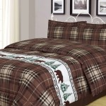 Plaid Bear King Comforter 3 Piece Bedding Set Rustic Cabin Lodge Walmart Com Walmart Com