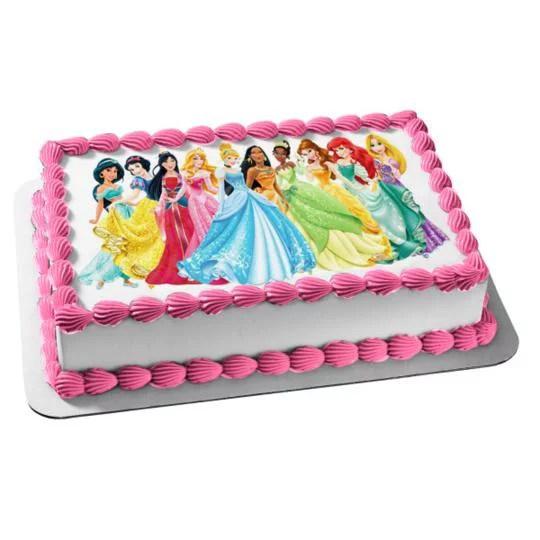 Disney Princess Ariel Belle Aurora Mulan Jasmine Edible Cake Topper Image Abpid04888 Walmart Com Walmart Com