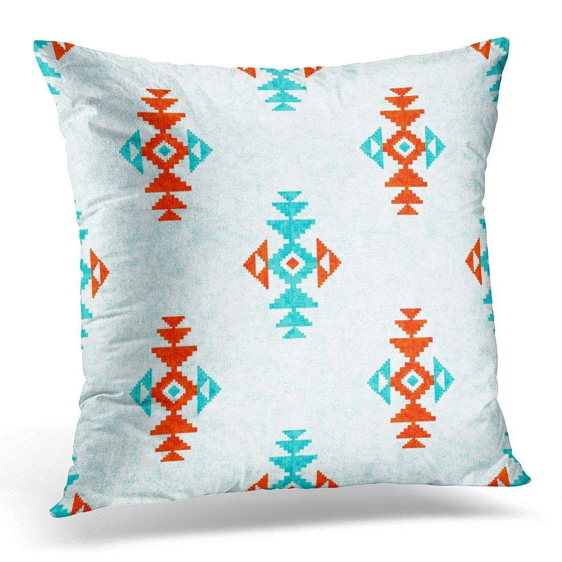 arhome red tribal pattern blue aztec pillow case pillow cover 20x20 inch