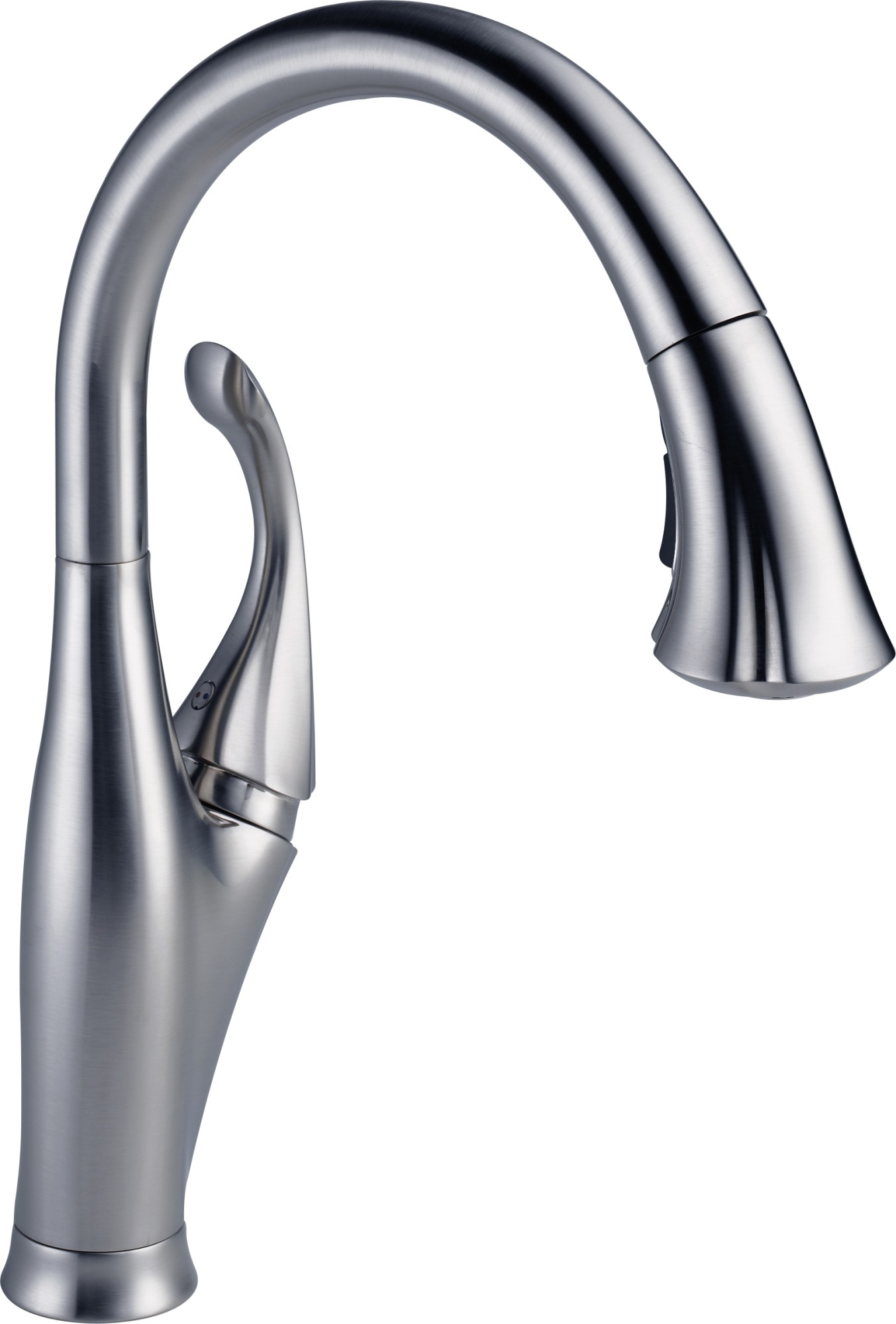 delta addison single handle pull down kitchen faucet with shieldspray technology arctic stainless