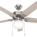 Hunter 52 Viola Noble Bronze Ceiling Fan With Light Kit And Pull Chain Walmart Com Walmart Com