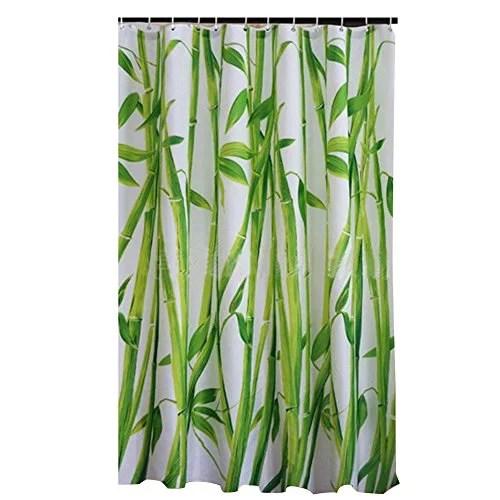 buyitnow classic bamboo shower curtain waterproof mildew resistance soft bathroom liner 71 x 71