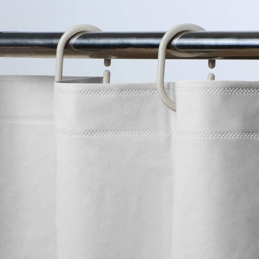 dedc eva shower curtain liner with 12