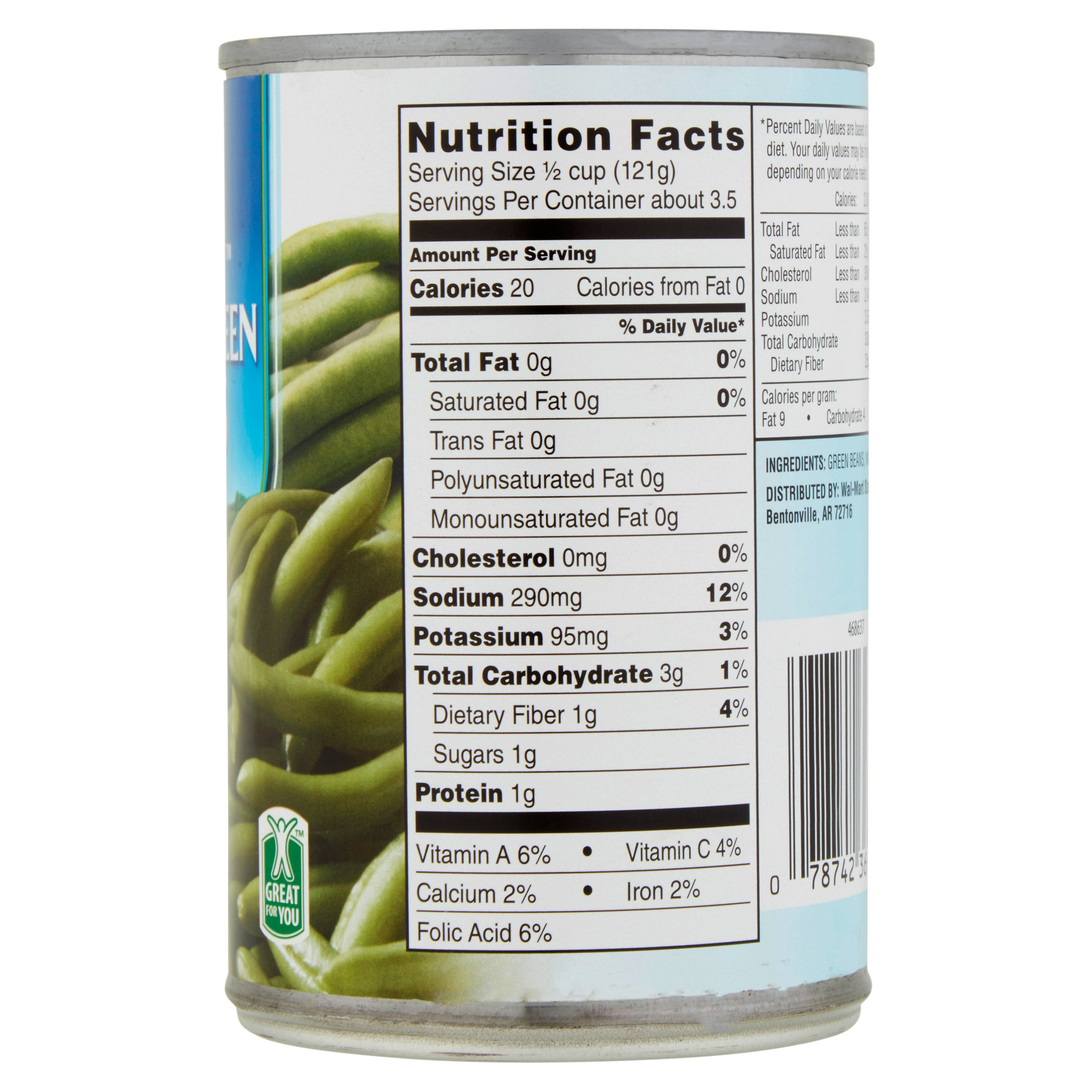 Green Beans Food Label