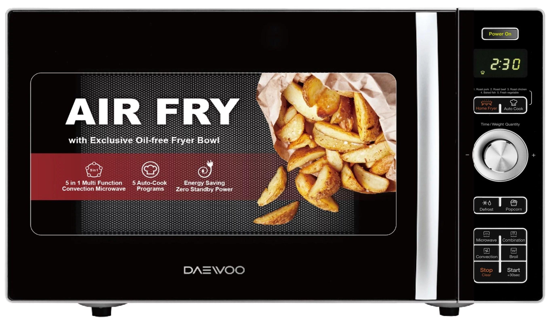 daewoo koc 9hafdb convection air fryer microwave oven 0 9 cu ft 900w