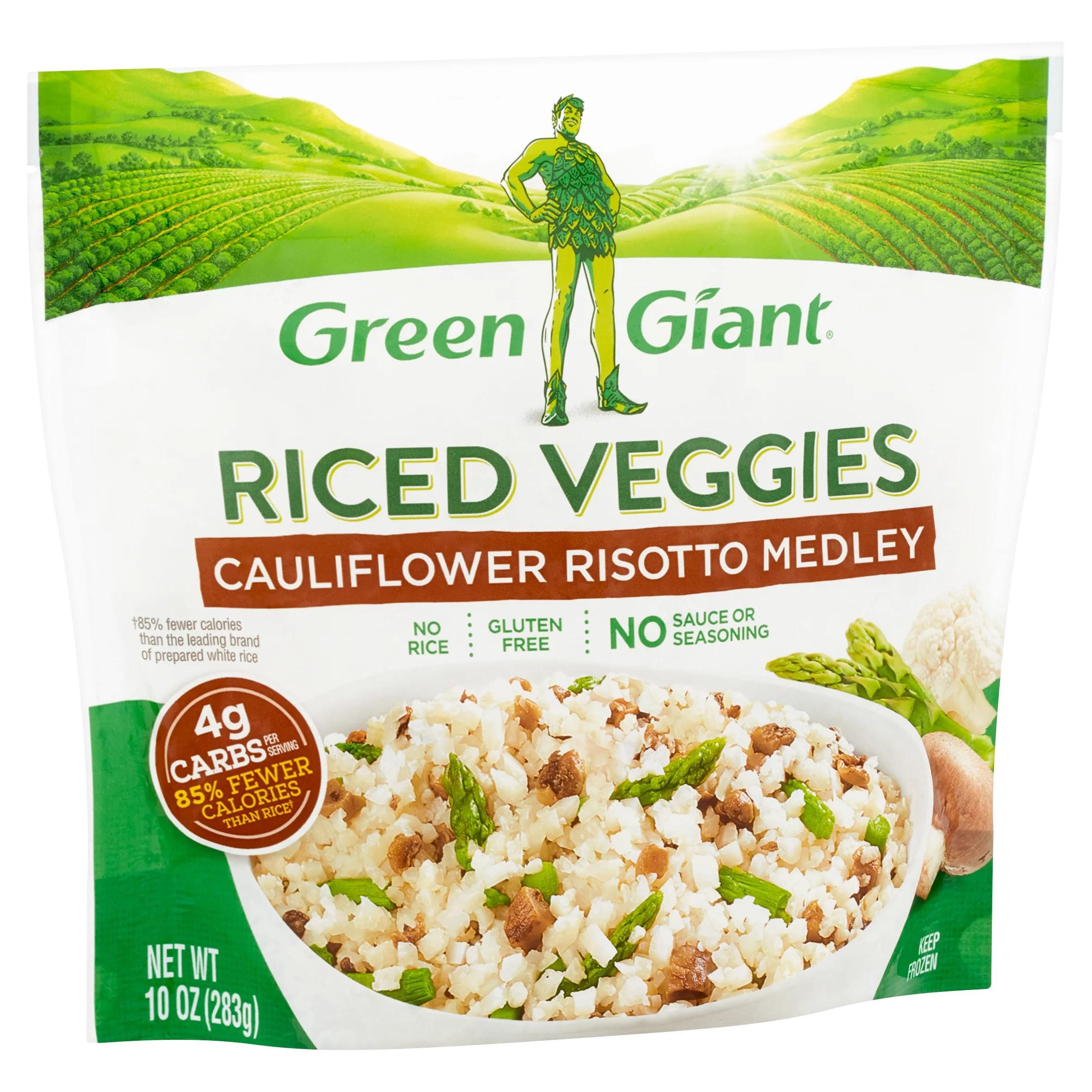 green giant cauliflower risotto medley riced veggies 10 oz walmart com