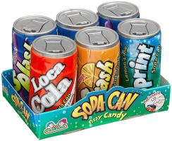 Mini Soda Can Fizzy Candy .25oz   4 Assorted Flavors 18 ...