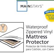 Mainstays Waterproof Zippered Vinyl Mattress Protector White Image 2 Of