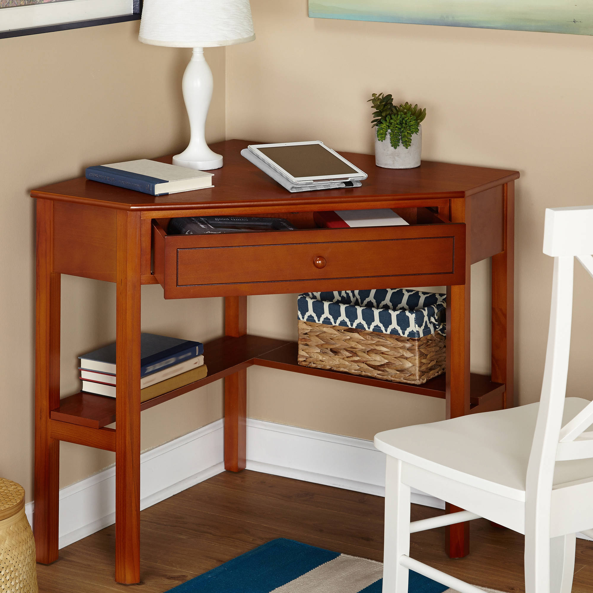 Small Corner Desk Writing Computer Laptop Accent Side Sofa