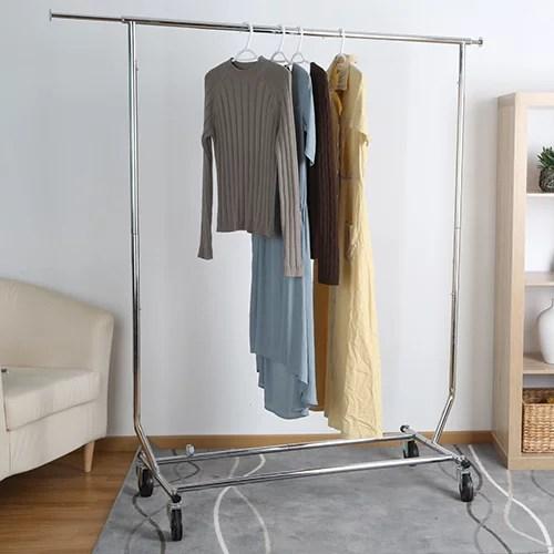 2 height-adjustable multi-garment holders. Better Homes Gardens Folding Adjustable Garment Rack Chrome Walmart Com