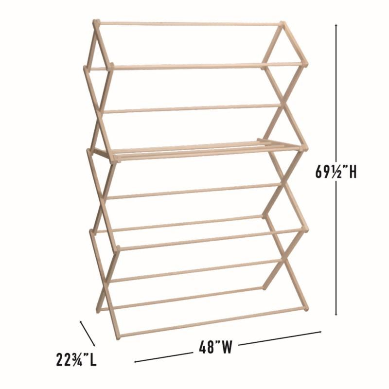 pennsylvania woodworks xx large wooden clothes drying rack made in the usa heavy duty 100 hardwood