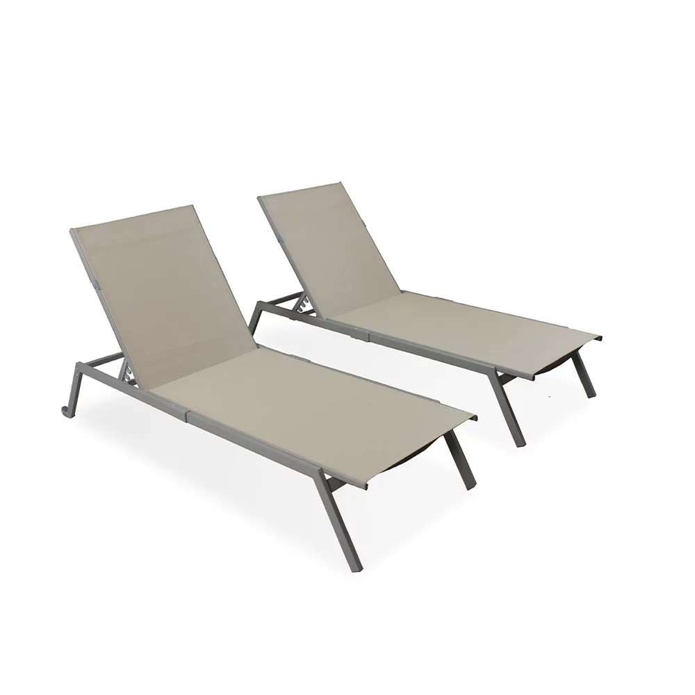 ostrich pc 1052t heavy duty adult outdoor lake chaise lounge chairs 2 pack tan