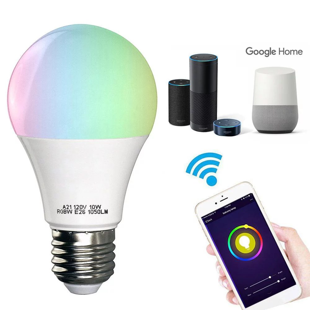 4 Pack Smart Light Bulb Wifi Light Bulb Color Changing Led