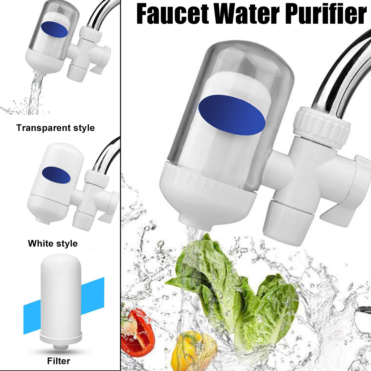 kitchen abs plastic tap faucets water filter system washable mount purifier filtration