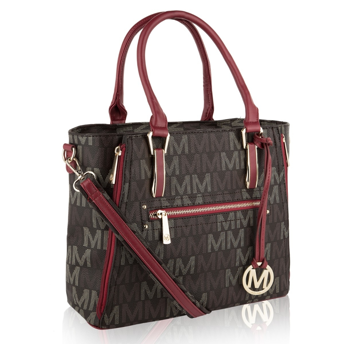 MKF Collection Siena M Signature Handbag by Mia K. Farrow