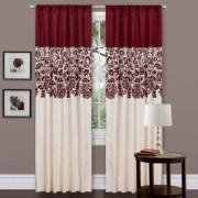 Shower Curtain Rod Rods Wrap Around Blockaide Com Lush Decor Terra Bluechocolate X