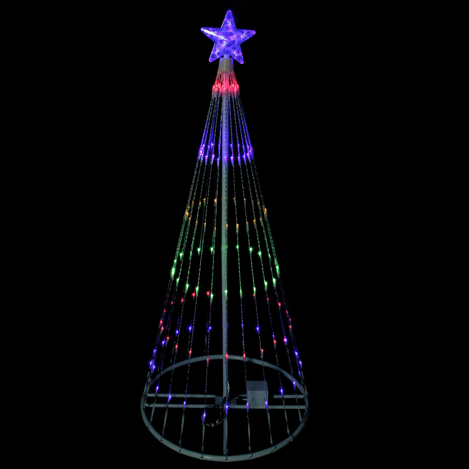 Led Light Show Cone 4 Ft Multi Color Christmas Tree