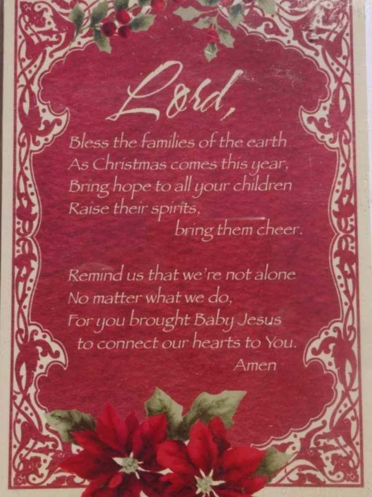 TRIMMERRY Red Christmas Prayer Christian Christmas Cards