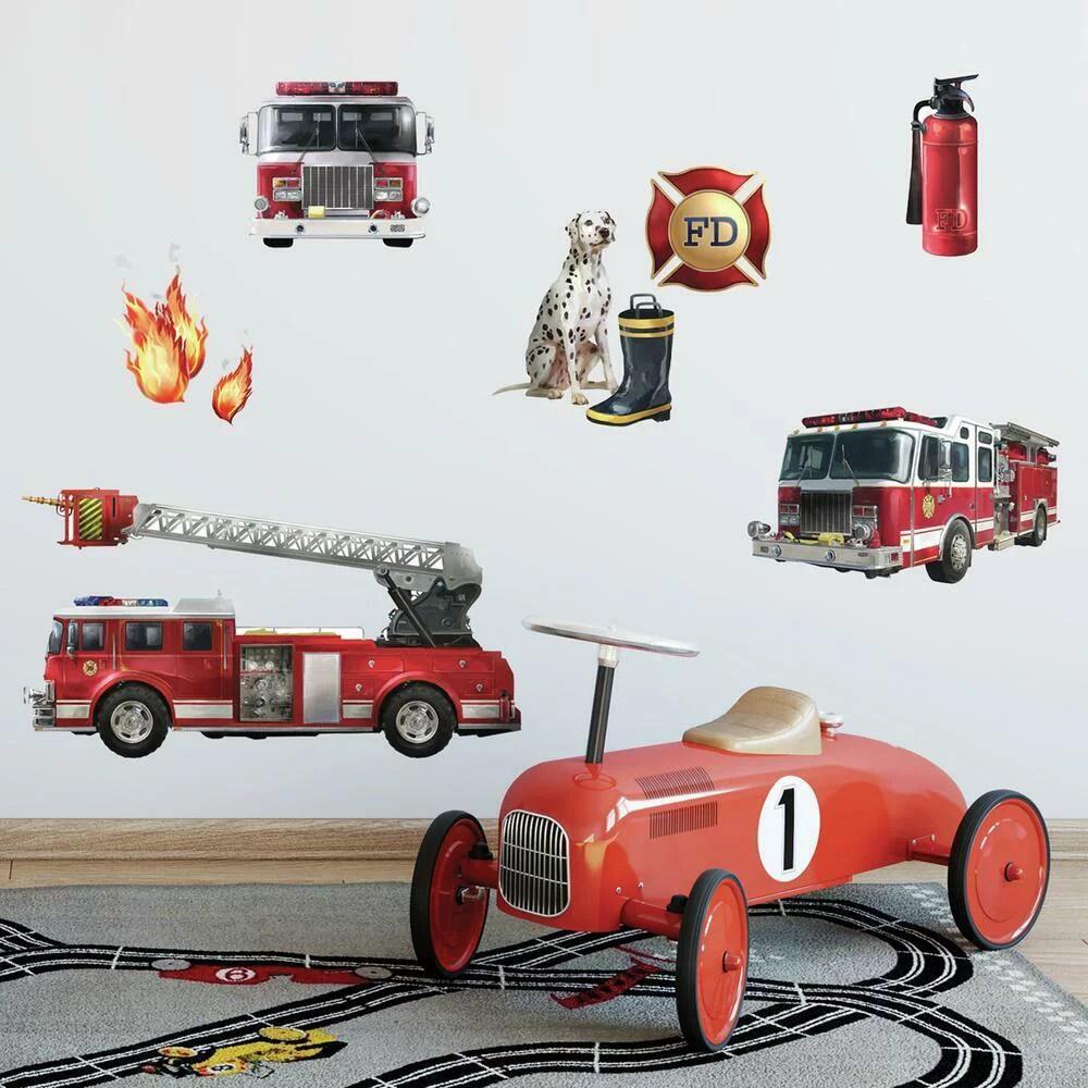 carter s 4 piece toddler bed set fire truck