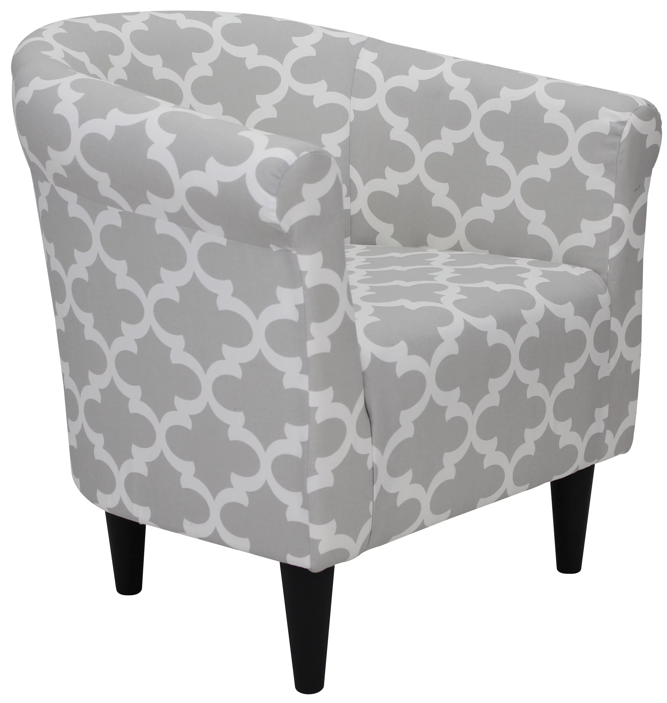 mainstays microfiber bucket accent chair fynn gray