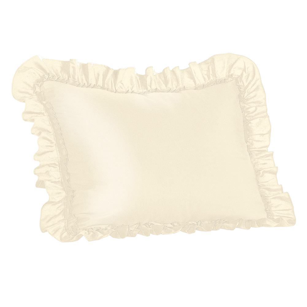 bedroom elegant ruffled pillow shams