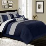 8 Piece Luxury Pintuck Pleated Stripe Purple Lavender Gray Comforter Set Home Garden Bedding