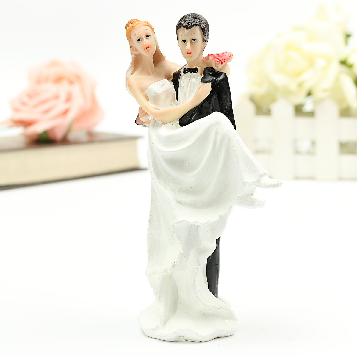 Bride and Groom Wedding Cake Topper of Love Wedding Romantic Couple     Bride and Groom Wedding Cake Topper of Love Wedding Romantic Couple Love  Favors Figurine Decor DIY