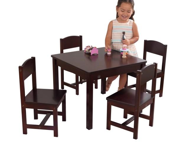 Kidkraft Farmhouse Table  Chair Set Espresso