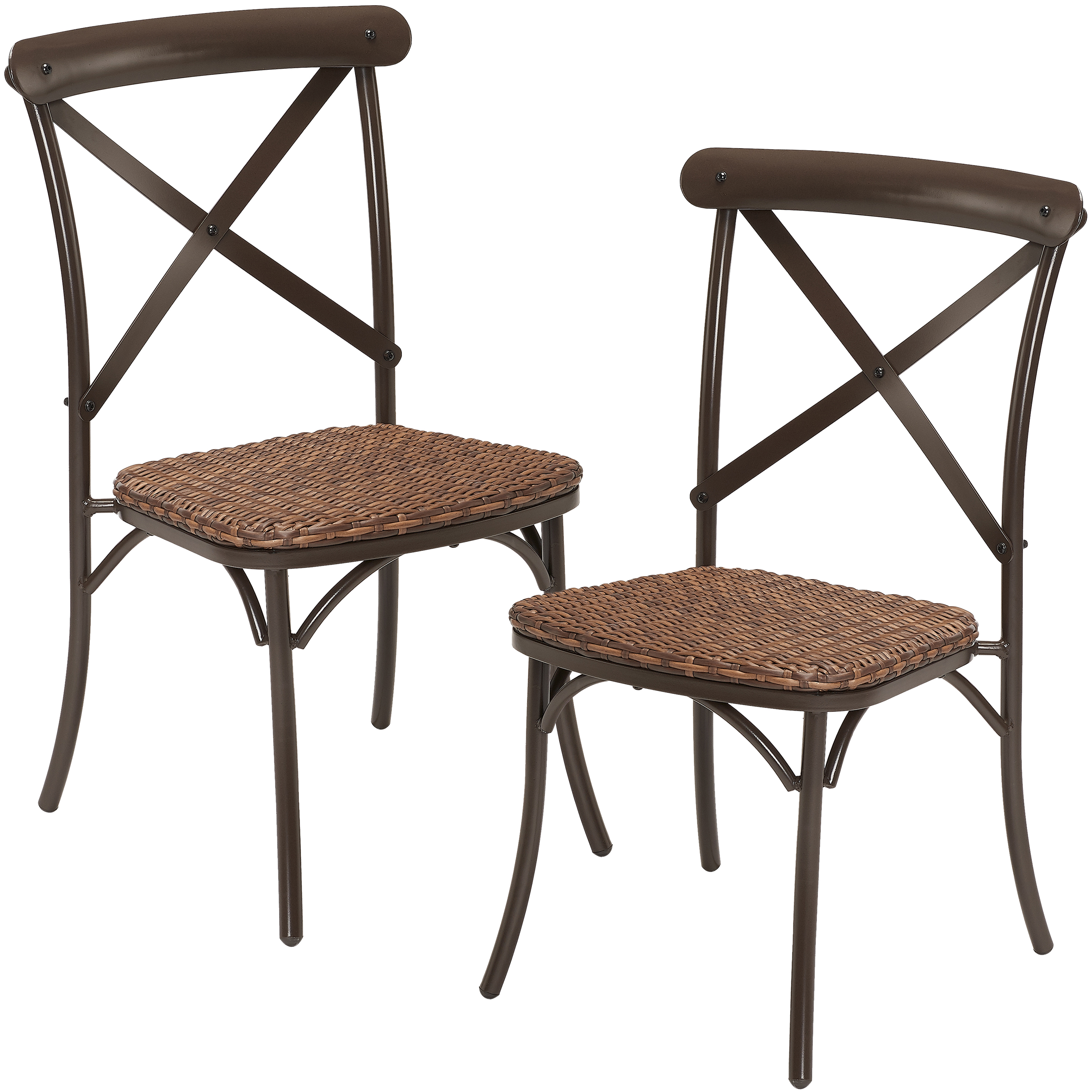 better homes gardens wicker camrose farmhouse 2 piece dining chairs