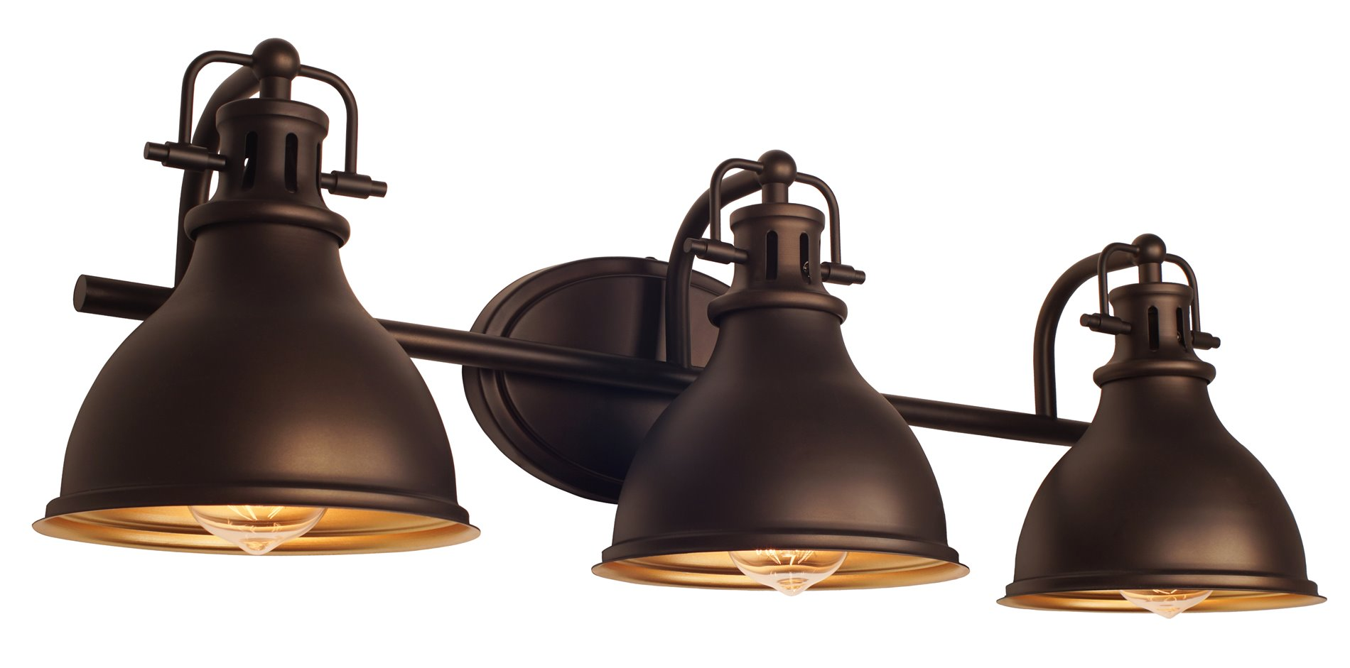 kira home beacon 26 5 3 light traditional vanity bathroom light oil rubbed bronze finish