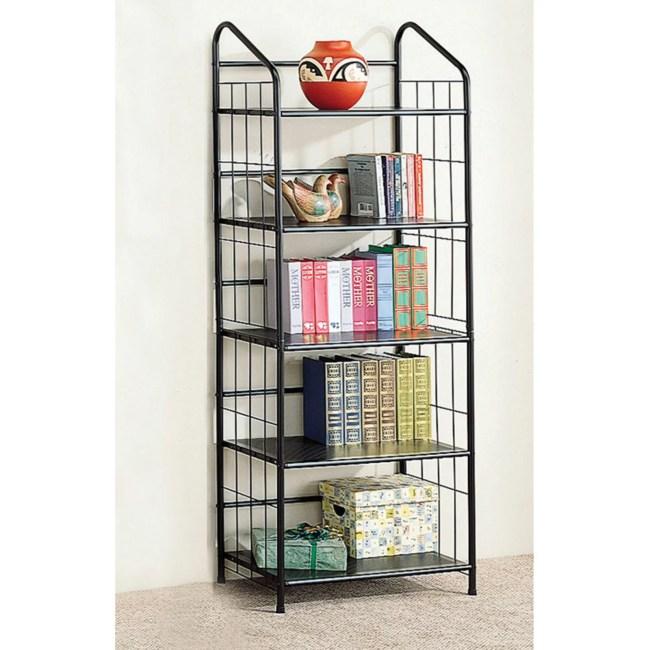 Coaster Furniture Black Wire Bookcase