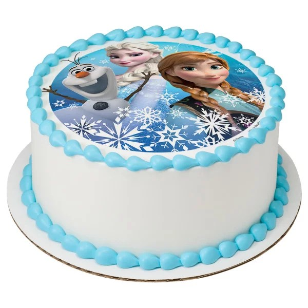 Cake Toppers Decorations Cake Toppers Disney Frozen Elsa Unofficial 8 Birthday Cake Edible Round Printed Cake Topper