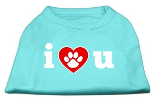I Love U Screen Print Shirt Aqua Med  12    Walmart com I Love U Screen Print Shirt Aqua Med  12