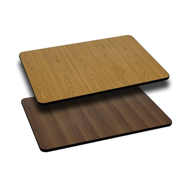 """Flash Furniture 30"""" x 48"""" Rectangular Table Top with Reversible Laminate Top, Multiple Colors"""