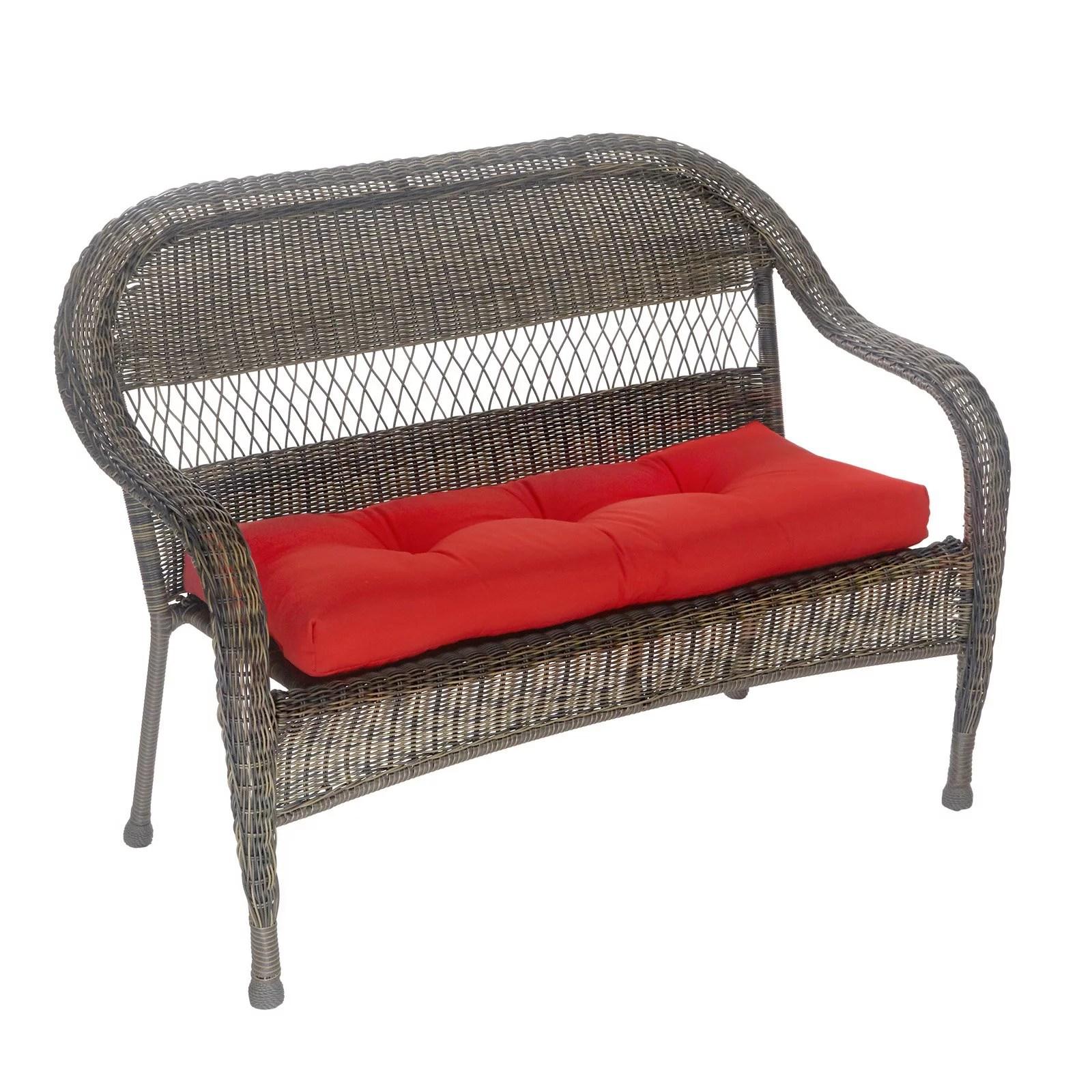 patio outdoor indoor red bench cushion 43 x 19 x 3