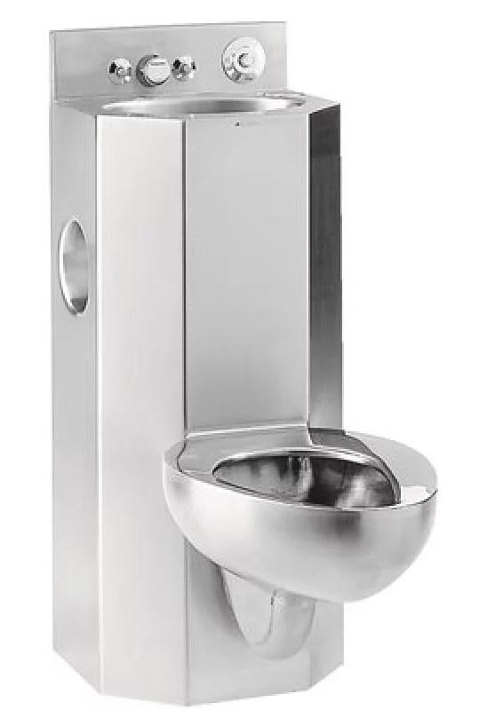 metcraft floor mount combo bathroom sink and toilet fixture stainless steel walmart com