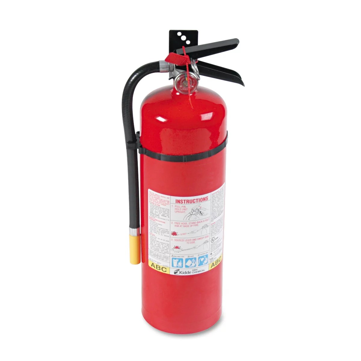 Kidde ProLine Pro 10lb 10MP Fire Extinguisher, 4 A, 60 B:C, 195psi, 19.52h x 5.21 dia