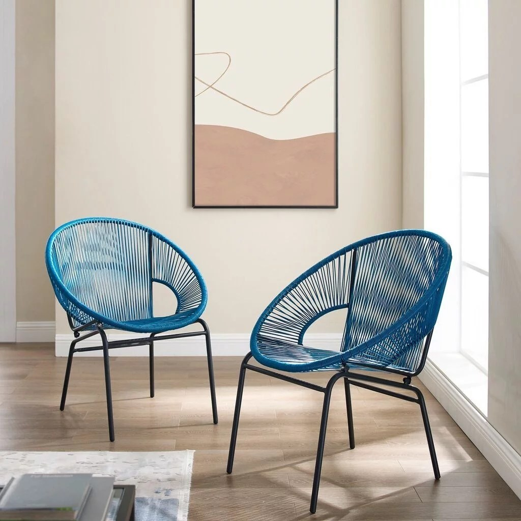 corvus sarcelles woven wicker patio chairs set of 2