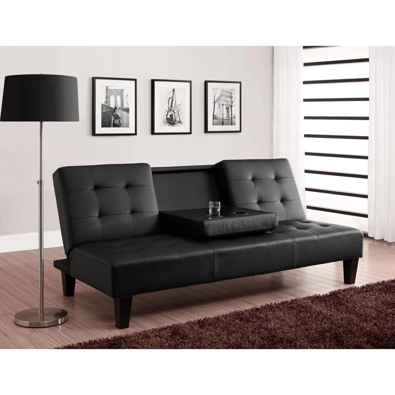 julia cupholder convertible futon black