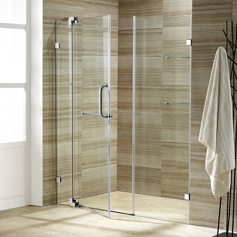 Vigo 66 Frameless Shower Door 3 8 Clear Glass Chrome