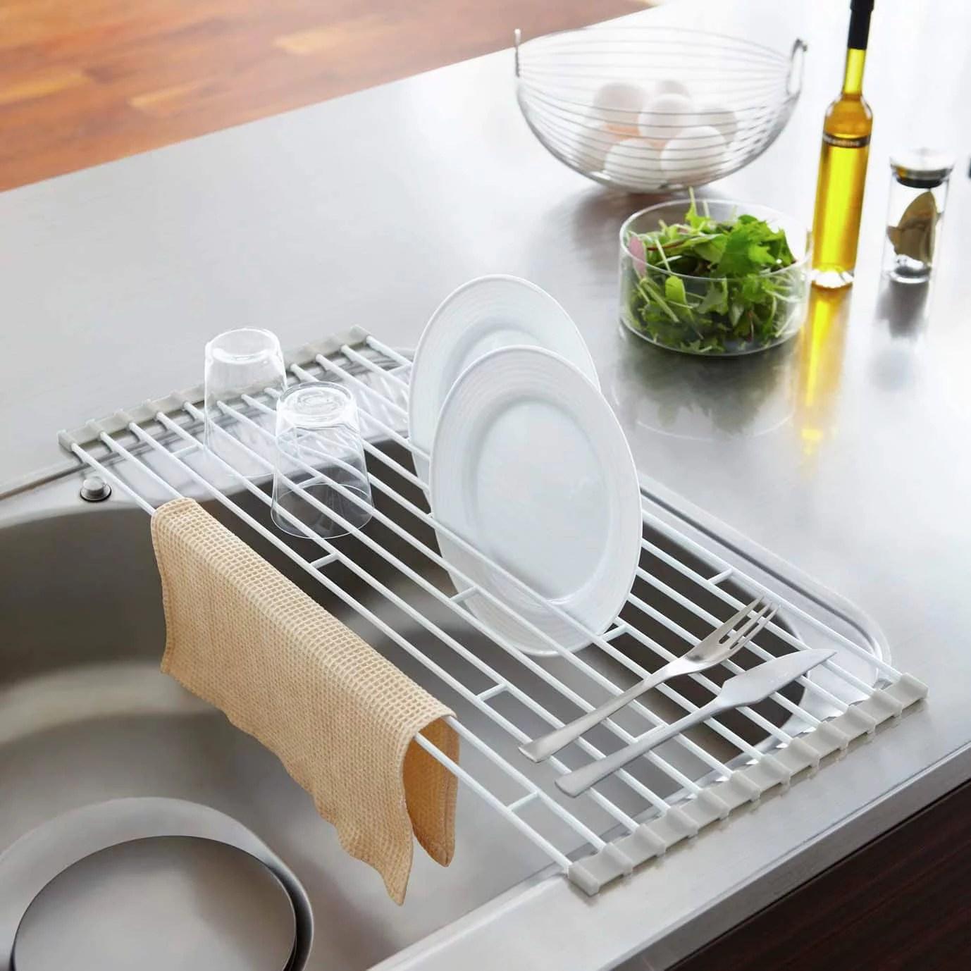 yamazaki home plate over the sink folding drying rack