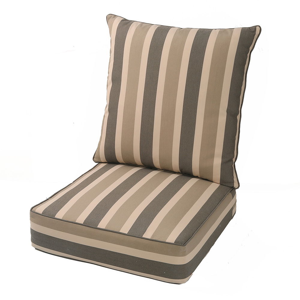 lnc deep seat cushions outdoor seat cushions in brown cabana stripe