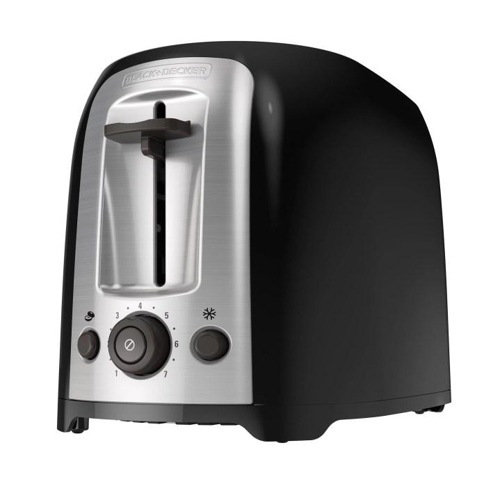 BLACK+DECKER 2-Slice Extra Wide Slot Toaster, Black, Silver, TR1278B