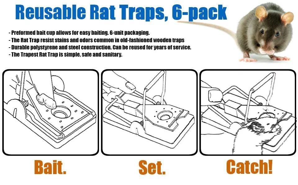 Aspectek Mouse Trap Rat Trap Humane Kill Reusable Easy Set Rat Snap Trap Mice Rodent Traps Pets Protector The Best Mouse Catcher 6 Pack Walmart Canada