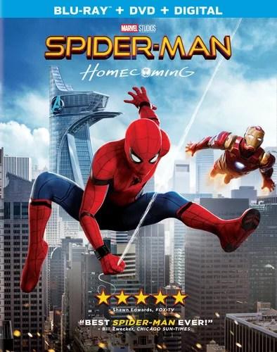 spider man homecoming blu ray dvd