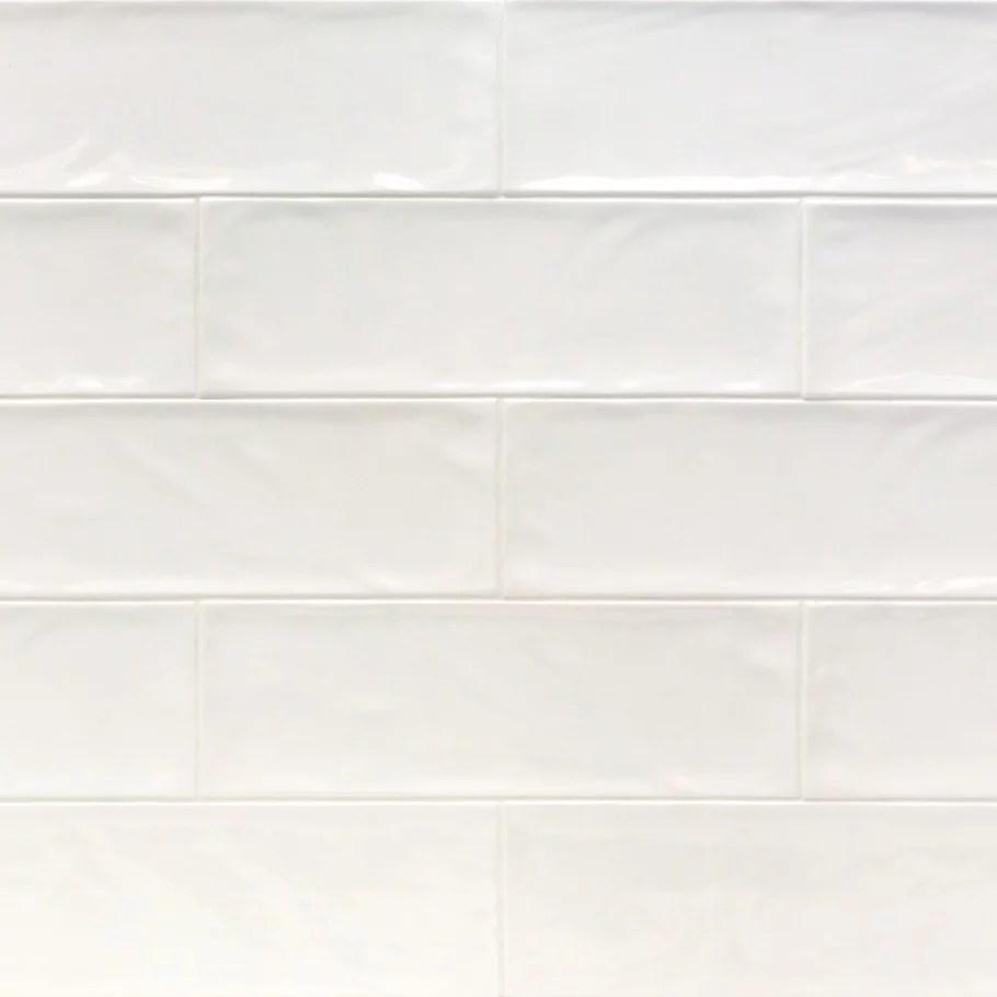 pacific white 4 in x 12 in polished ceramic bullnose tile