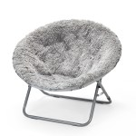 Urban Shop Mongolian Faux Fur Oversized Moon Chair Multiple Colors Walmart Com Walmart Com