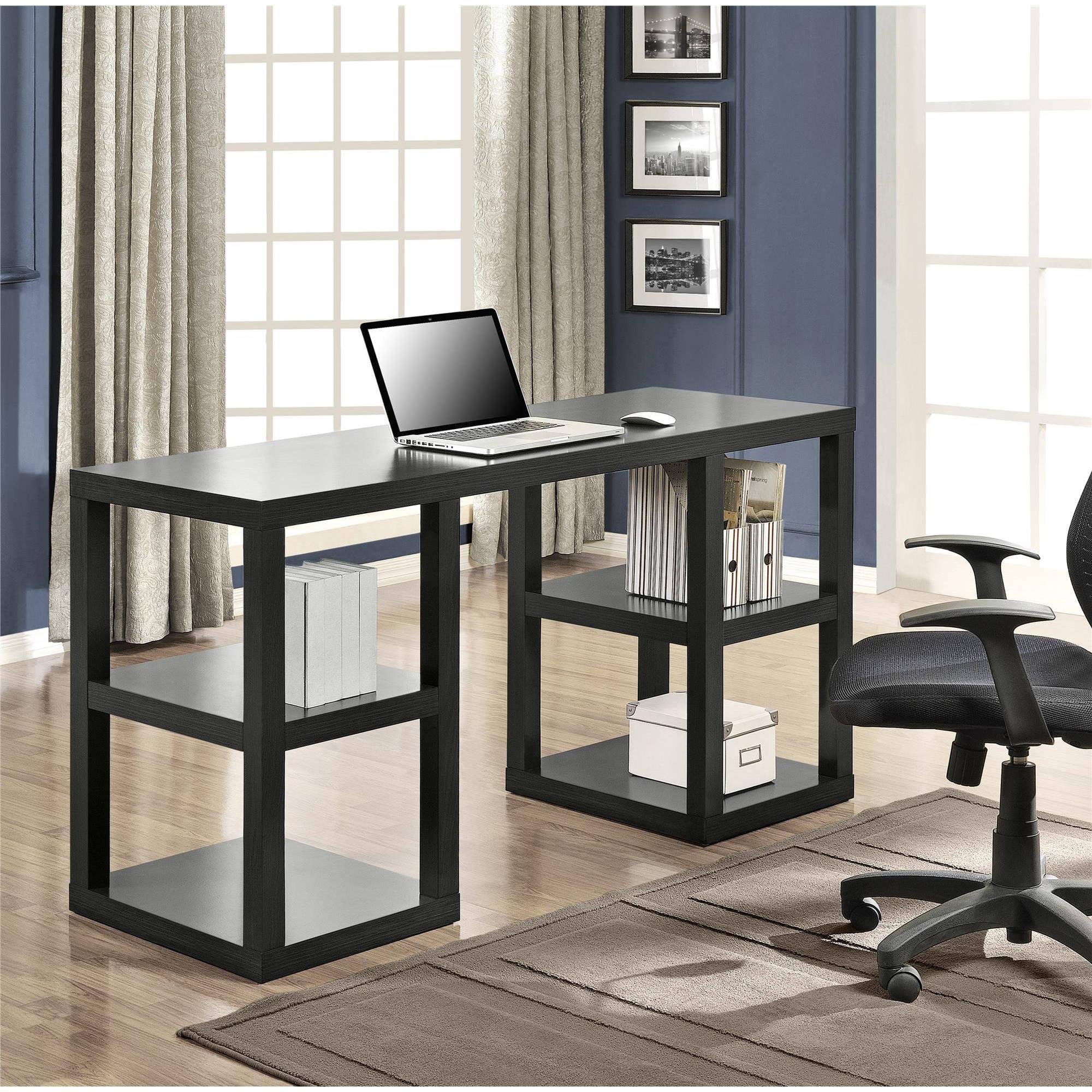 Computer Desk Home Office Double Pedestal Parsons Desk