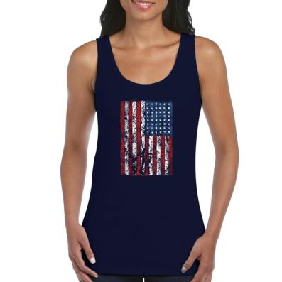4th of July Flags American Flag Vintage Women's Tank Top Clothes